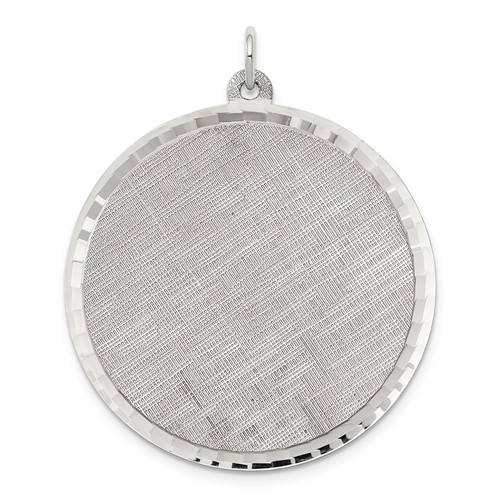 Sterling Silver Engravable Round Patterned Disc Charm