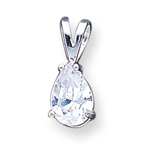 Sterling Silver Pear CZ Pendant