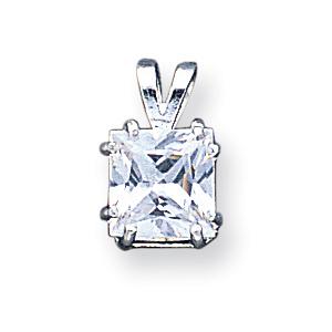 Sterling Silver Princess CZ Pendant