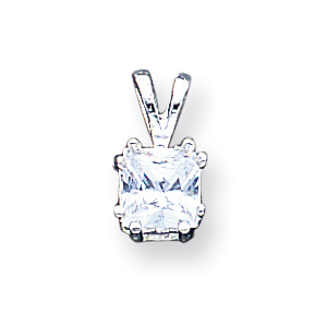Sterling Silver Princess CZ Pendant