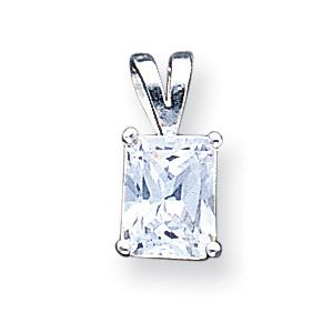 Sterling Silver Emerald CZ Pendant