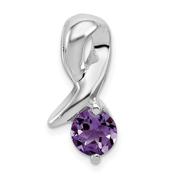 Amethyst Pendant - Sterling Silver