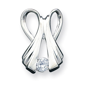 Sterling Silver Cubic Zirconia Slide