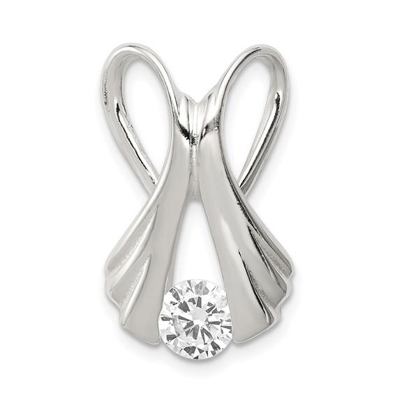 Sterling Silver Cubic Zirconia Slide