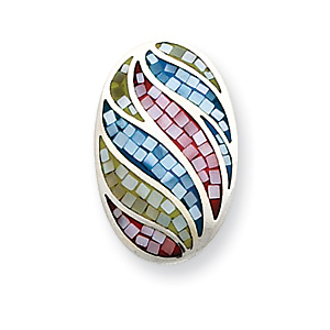 Multi-colored Mother of Pearl Slide - Sterling Silver