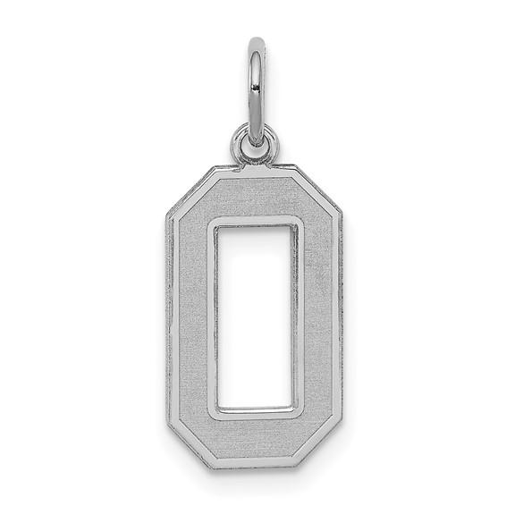 Sterling Silver Medium Satin Number 0
