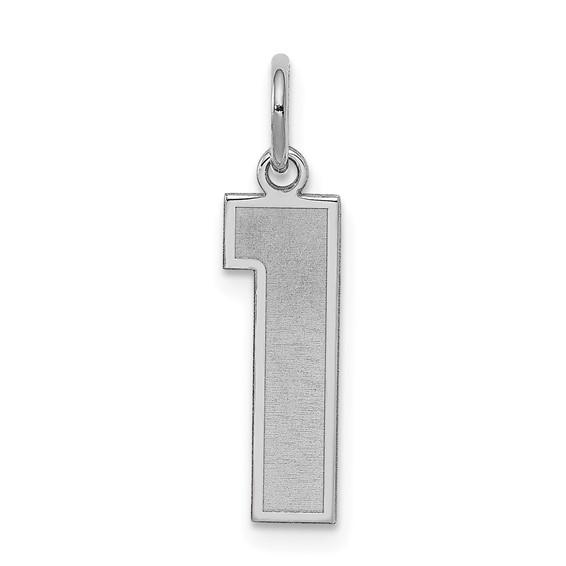Sterling Silver Medium Satin Number 1