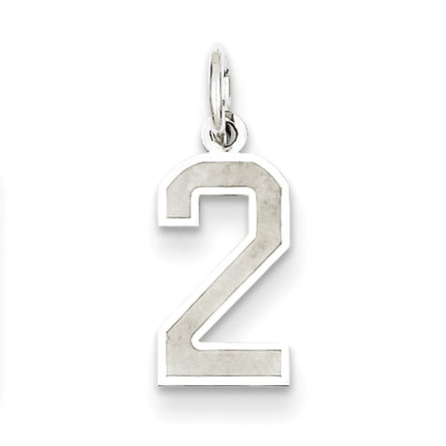 Sterling Silver Medium Satin Number 2