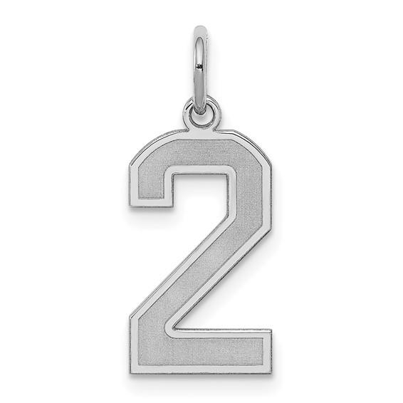 Sterling Silver Medium Satin Number 2