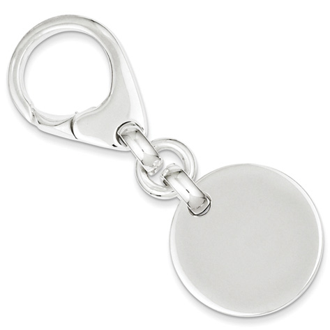Sterling Silver Round Key Ring