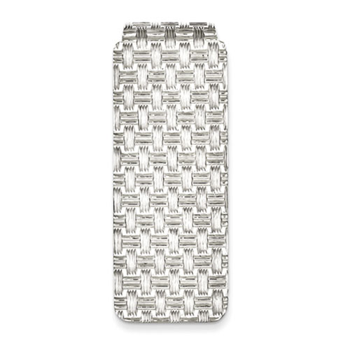 Sterling Silver Finely Textured Money Clip