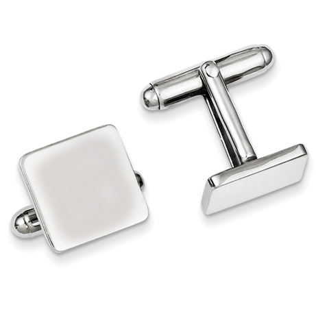 Sterling Silver Italian Square Cufflinks