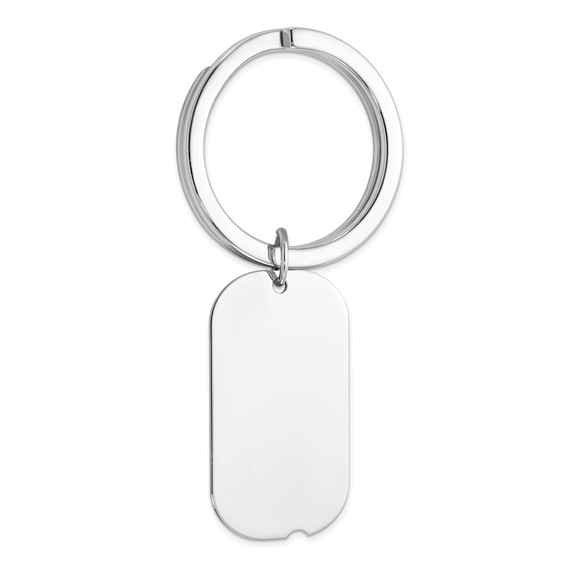 Sterling Silver Dog Tag Key Chain