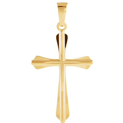 14kt Yellow Gold 1in Cross Pendant