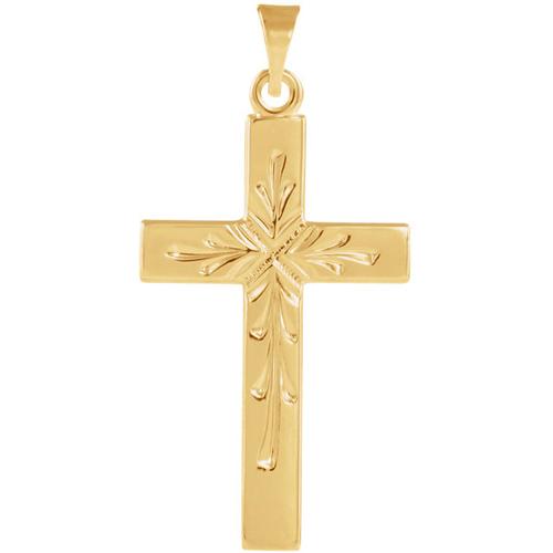 14kt Yellow Gold Cross 24x15mm