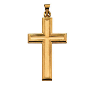 14kt Yellow Gold 1 1/2in Cross Pendant