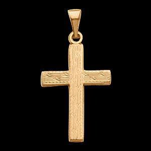 14KY Gold Cross Pendant 14.5x10mm