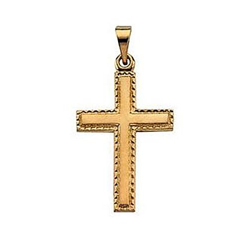 14KY Gold Cross Pendant 20x14mm