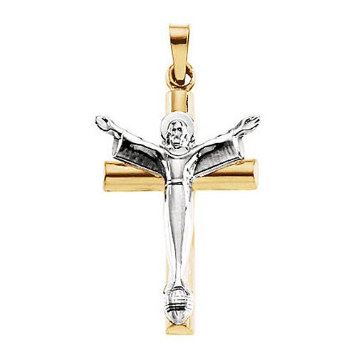 Risen Christ Hollow Crucifix 32x21mm