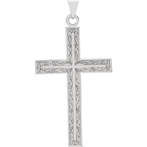 14KW Gold Cross Pendant 39x25mm