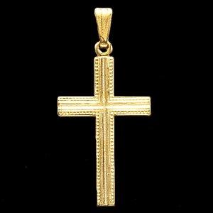 Cross 15x9.5mm - 14kt Yellow Gold