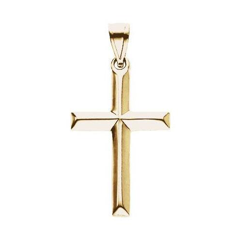 14KY Gold Cross Pendant 18x14mm