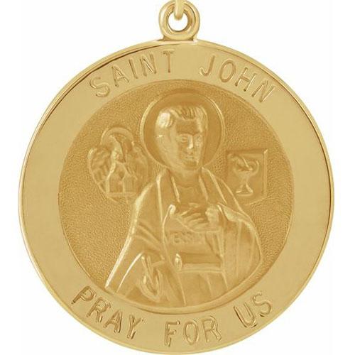 14k St. John the Evangelist Medal 22mm