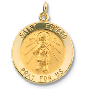 14kt Yellow Gold 18mm St. Edward Medal