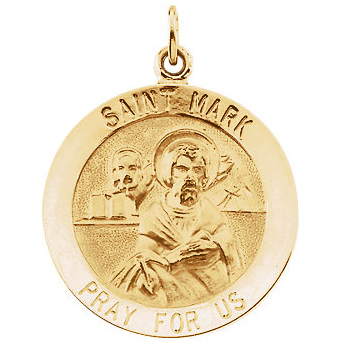 14kt Yellow Gold 18mm St. Mark Medal