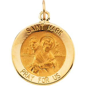 14kt Yellow Gold 15mm St. Mark Medal