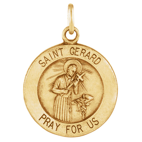14kt Yellow Gold 15mm St. Gerard Medal