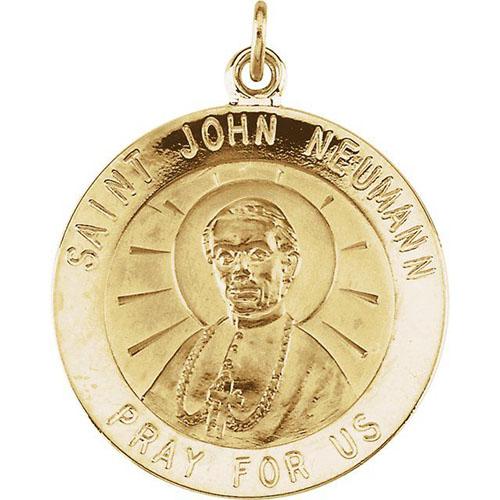 14k St. John Neumann Medal 18mm
