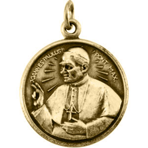 14k Pope John Paul Medal 17mm