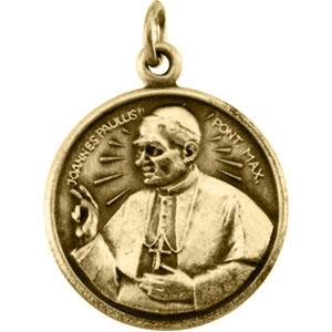 14k Pope John Paul Medal 20mm
