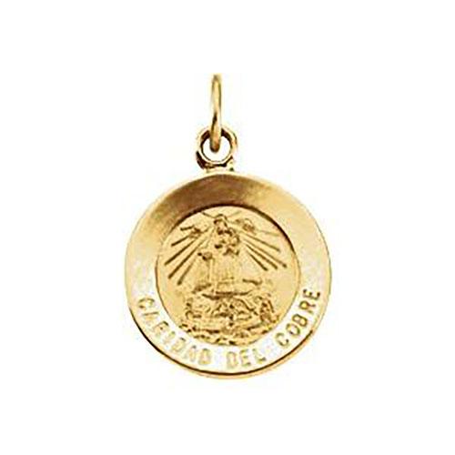 14k Caridad Del Cobre Medal 12mm