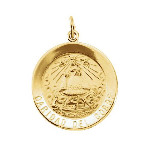 14k Caridad Del Cobre Medal 25mm