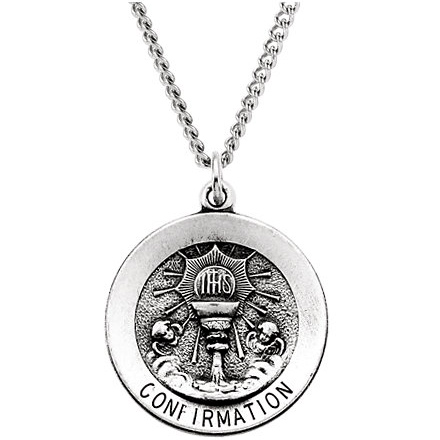 Sterling Silver Confirmation Medal 21.75mm