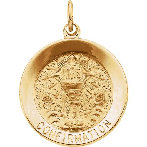 14K Gold Confirmation Medal 12mm