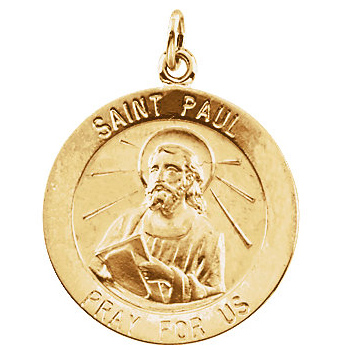 14kt Yellow Gold 25mm St. Paul Medal
