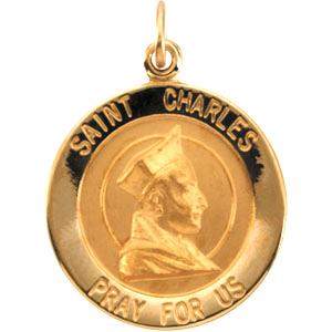 14k St. Charles Medal 18mm