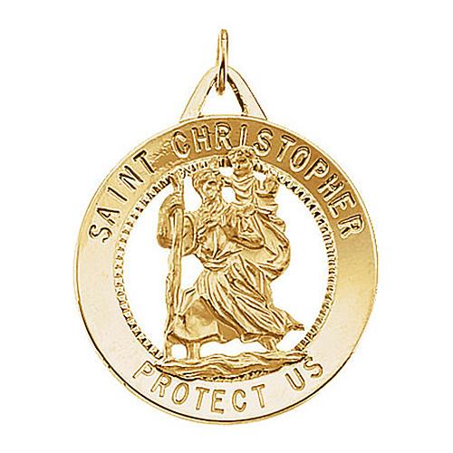 St. Christopher Medal 25mm - 14kt Gold