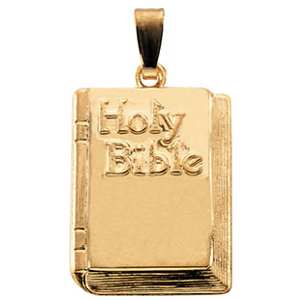 14K Gold Holy Bible 19.5x13mm