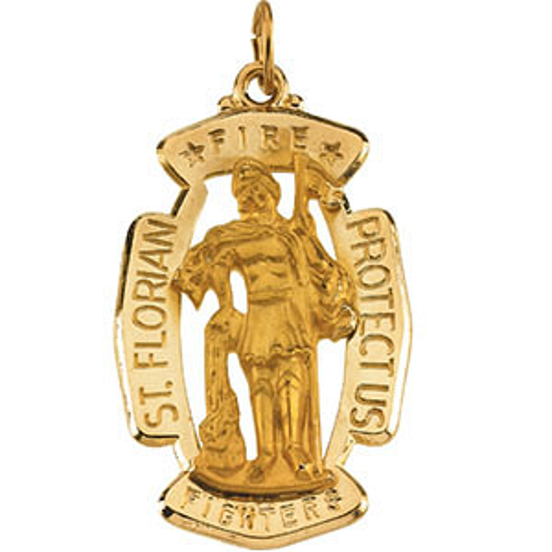 14k Gold Filled St. Florian Medal 30x20mm