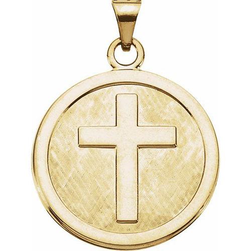 14K Gold Confirmation Medal 23mm