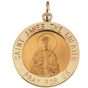 14kt Yellow Gold St. James Medal 18mm