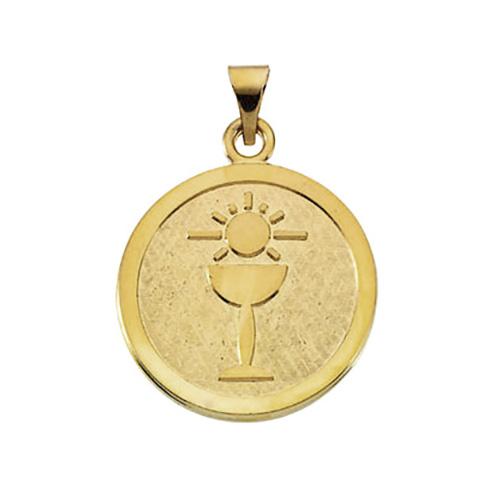 14K Gold Holy Communion Medal 23mm