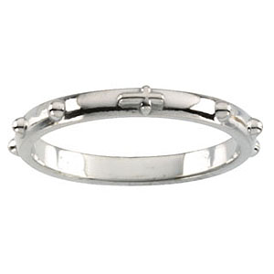 14kt white gold 2 5mm rosary ring jjr16603w jewelers
