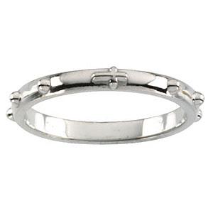 14kt White Gold 2.5mm Rosary Ring