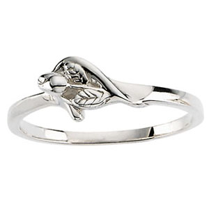 Sterling Silver Unblossomed Rose Purity Ring