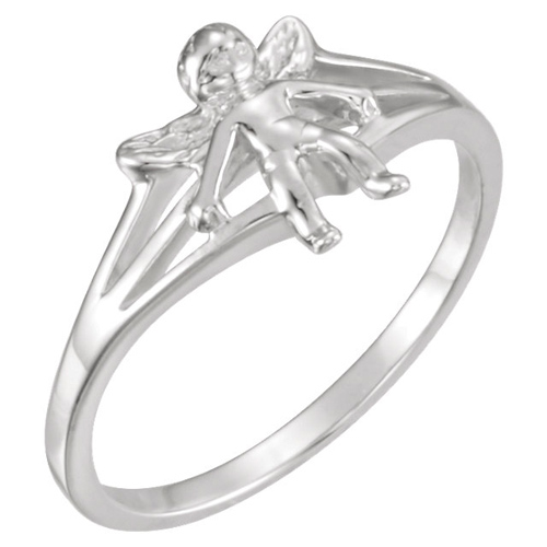 Sterling Silver Angel Chastity Ring